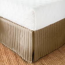 Damask Stripe Bed Skirt