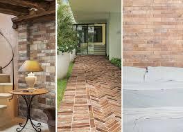 a modern twist on an time favorite using brick look porcelain