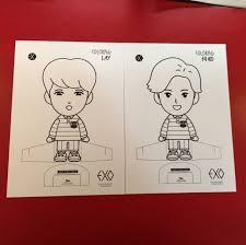 WTT Exo Colouring Book Postcard