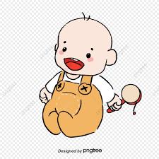 Dibujado A Mano De Dibujos Animados Lindo Bebe Madre Y Bebe