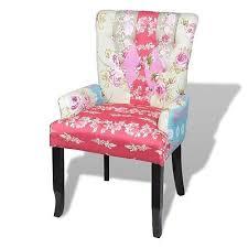 patchwork stuhl relaxsessel polstersessel bunt lehnstuhl