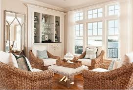 Living Room Wicker Chairs Beach House With