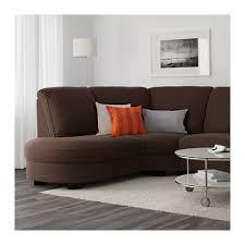 tidafors corner sofa with arm right hensta dark brown ikea