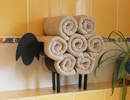 dandibo handtuchhalter stehend schwarz schaf handtuchregal gäste bad gästehandtuchhalter