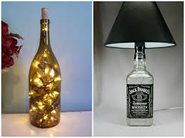 DIY Tutorial Guide To Make A Lamp With Old Bottles Pendant Chandelier Lighting Table