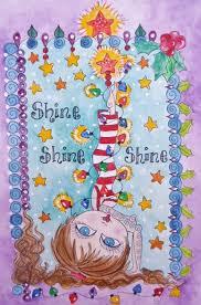 YOGA Christmas Card ShInE ShiNe Sare The By ChubbyMermaid 299