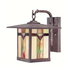allen roth vistora 11 75 in h bronze outdoor wall light arts