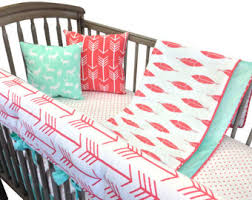arrow crib bedding etsy