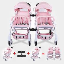 Baby Throne Twins Baby Stroller Fold Light Detachable Double Pram Two Seat  Newborns Baby Carriage Babyhit Wheelchair 0 To 4 Year