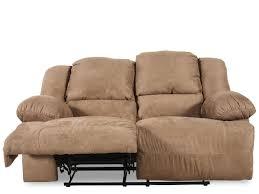 ashley hogan mocha reclining loveseat mathis brothers furniture