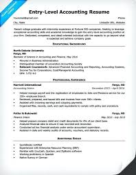 Entry Level Accounting Resume Sample Example Staff Accountant