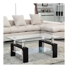 100 Living Room Table Modern Amazoncom Rectangular Black Glass Coffee