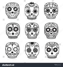 Easy Sugar Skull Day Of by Sugar Skull Vector Set Day Dead Stock Vector 469434446 Shutterstock