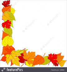 Templates Fall leaves page corner borders