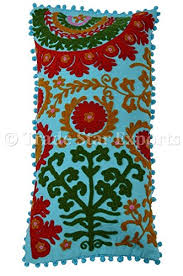Suzani Pillows 12x24 Pom Pillow Cover Decorative Bohemian Outdoor Cushion Indian
