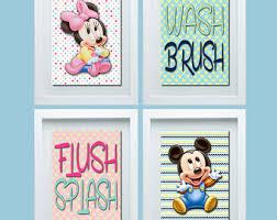 Mickey Minnie Bathroom Decor by Shared Bathroom Etsy