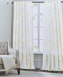 Tahari Home Curtains 108 by Tahari Yellow Gray Trendart Floral Paisley Pair Of Curtains 2pc
