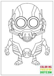 Minion Ant Man Mode Coloring Pages Printable Halloween Free Colouring Sheets