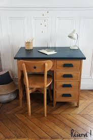 petit bureau en bois bureau en teck bureau de comptable vintage et sa chaise meuble