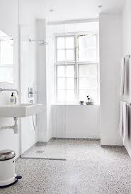 White Bathroom With Terrazzo Floor Interiordesign Minimal