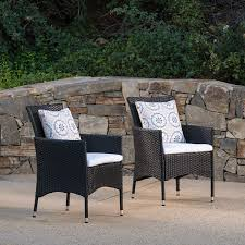 Amazon.com : Christopher Knight Home Curtis Outdoor Black ... Lotta Ding Chair Black Set Of 2 Source Contract Chloe Alinum Wicker Lilo Chairblack Rattan Chairs Uk Design Ideas Nairobi Woven Side Or Natural Flight Stream Pe Outdoor Modern Hampton Bay Mix And Match Brown Stackable
