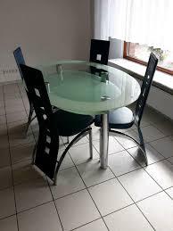 ovaler esstisch glastisch mit vier stühlen möbel wallach