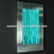 wall mounted led water wall stainless steel frame