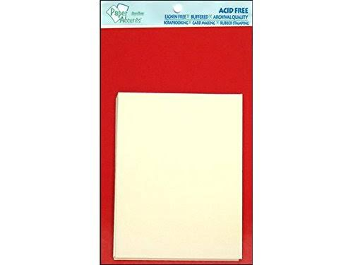 Paper Accents Card & Env 4.25x5.5 10pc Dark Red/Cream