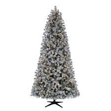 Pre Lit LED Flocked Lexington Pine Artificial Christmas Tree