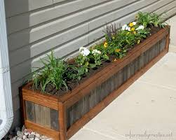 Wooden Planter Boxes With Bench
