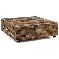 woodkings couchtisch kavali groß 120x120 mit rollen altholz unikat rustikal holztisch sofatisch echtholz massiv wohnzimmer möbel tisch