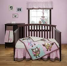 Amazon Calico Owls 3 Piece Crib Bedding Set by Bananafish