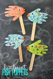 Easy Craft Ideas For Kids To Make At Home My Daily Magazine Art Fish Puppets Crafts
