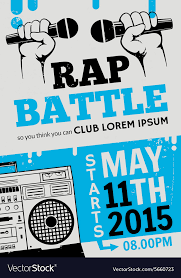 Rap Battle Concert Hip Hop Music Poster Vector Image