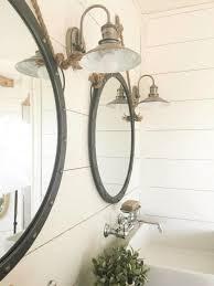 Rustic Barn Bathroom Lights by Best 25 Round Bathroom Mirror Ideas On Pinterest Bathroom