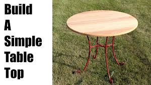 replace an old round table top table make a round table top youtube