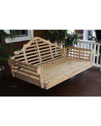 Spectacular Deal on Furniture Barn USA™ Cedar Lattice Back Swing Bed