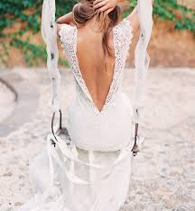 Fantastic Rustic Backless Lace Wedding Dress