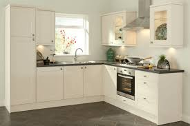 Simple Kitchen Decorating Ideas With White Stained Wall Mounted