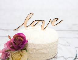 Love Cake Topper Rustic Wedding In Wood Or Glitter Hipster Chic Item