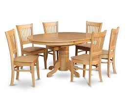 5PC OVAL DINETTE KITCHEN DINING ROOM SET TABLE W 4 WOOD