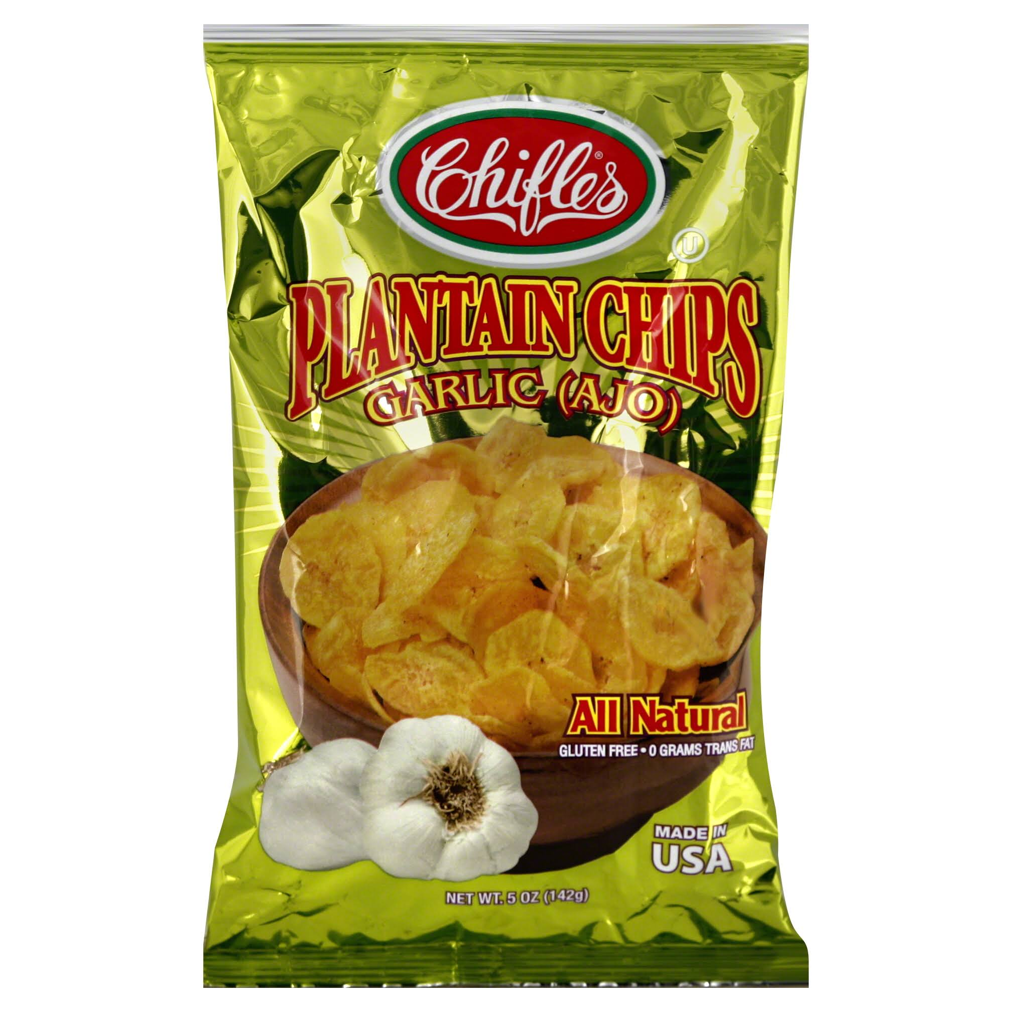 Chifles Garlic Flavor Plantain Chips - 5oz