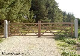 Ornamental Wood Five Bar Driveway Gate