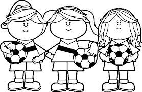Girl Soccer Player Free Images Playing Football Coloring Page