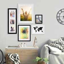 5er bilderrahmen set schwarz weiss 15x20 bis 40x50 cm inkl zubehör bildergalerie bilderwand wandgalerie photolini bilderrahmen fotowände