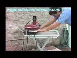 husky tile saw thd950l mk 370 tile saw demonstration