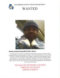Baltimore County Christmas Tree Pickup 2014 by Police Release Wanted Poster Sent To New York