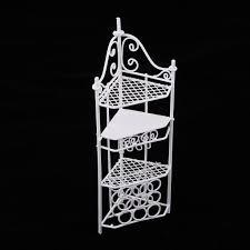 miniatur weiße metall regal standregal steckregal möbel modell für 1 12 puppenhaus wohnzimmer badezimmer zubehör