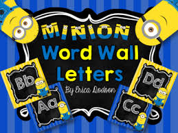 Minion Alphabet Word Wall Letters