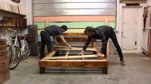 reclaimed wood hobo bed frame youtube